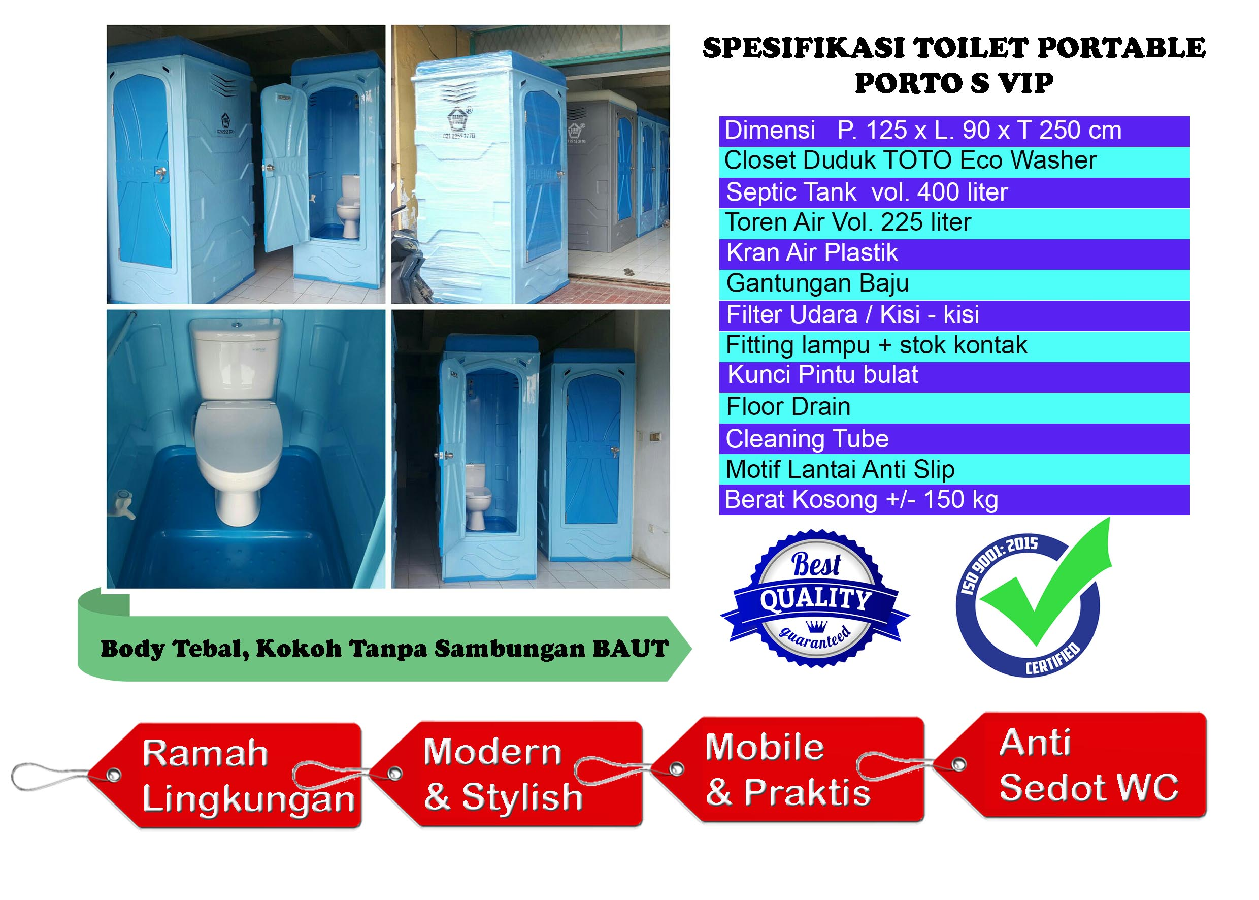 Daftar Harga Toilet Portable Jual Septic Tank Toilet Portable Jasa Sewa Toilet Grease Trap Tangki Air Fiberglass